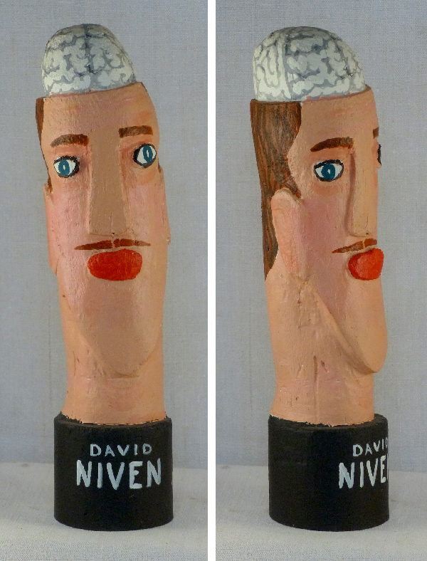 David Niven. Laurent Jacquy. sculpture bois.