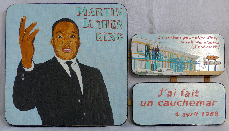 Laurent Jacquy. Martin Luther King. art modeste