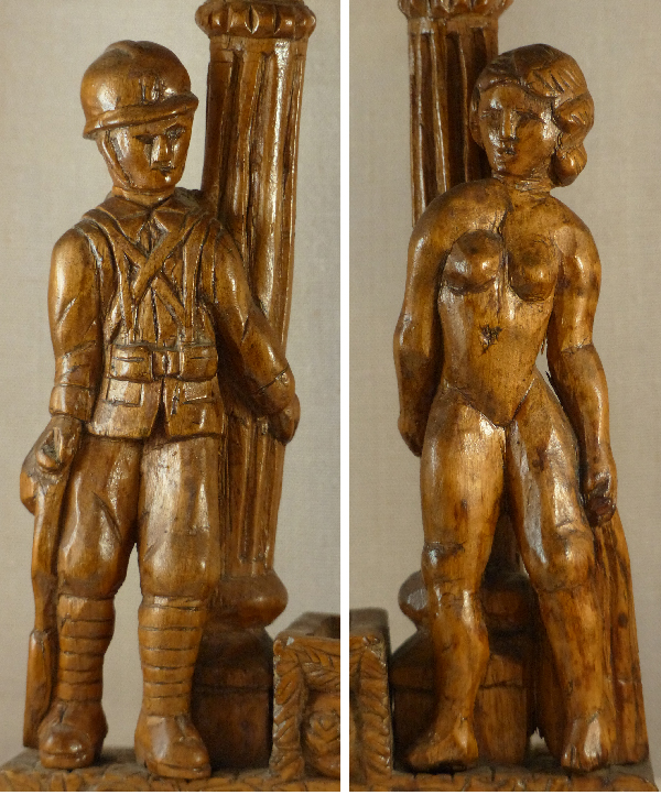 sculpture sur bois 1914-1918.art modeste.Collection Modestes et Hardis.
